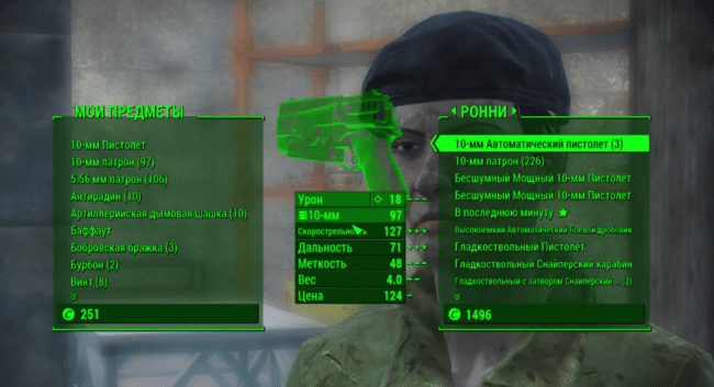 Патроны в Fallout 4